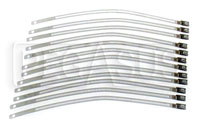 Click for a larger picture of Stainless Steel Band Clamp Kit, Qty 12 of 9 inch Straps