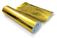 Click for a larger picture of Fire Resistant Adhesive GOLD Heat Reflective Film, per foot