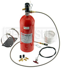 Click for a larger picture of (H) 10lb Halon Automatic/Manual Fire Suppression System