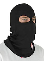 Click for a larger picture of Nomex Hood, 2 Layer 2 Eye Holes, SFI 3.3 Approved