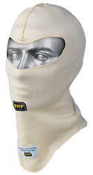 Click for a larger picture of OMP First 2-Layer Nomex Balaclava, Open Face, FIA / SFI