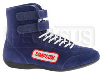 Click for a larger picture of Simpson Hi-Top Driving Shoe, SFI Approved