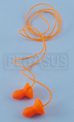 Click for a larger picture of Contoured Ear Plugs with Cord