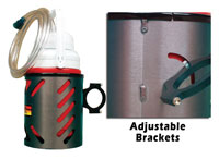Click for a larger picture of Aluminum Drink Holder for 1.5 inch Rollbar Tube