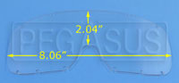 Click for a larger picture of Anti-Scratch Lexan Lens for Large Goggles (#2268)