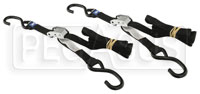 "Click for a larger picture of 1 inch  Wide, 66"" Cam Buckle Tie Down Straps - Set of Two"