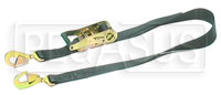 Click for a larger picture of Heavy-Duty Ratchet Tie Down with 2 Snap Hooks