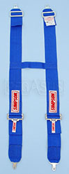 "Click for a larger picture of Camlock H-Type Shoulder Harness, 24-58"" Blue, Old Date"