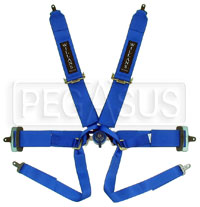 Click for a larger picture of Willans 6-Point Formula Car Harness w/ D-Ring Lap Belt - FIA