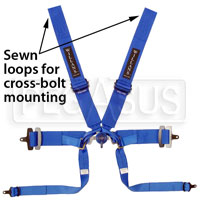Click for a larger picture of Silverstone 6 Single Seater Harness, 3/3 Looped, Old Date