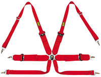Click for a larger picture of OMP Sedan/HANS Camlok Competition Harness - FIA Approved