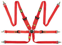 Click for a larger picture of OMP EVO Sedan/HANS Camlok Competition Harness- FIA Approved