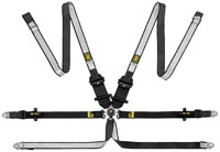 Click for a larger picture of OMP Dyneema WEC Saloon/HANS 6-Point Harness, FIA Approved