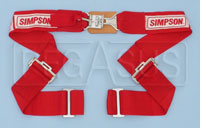 "Click for a larger picture of Simpson Latch & Link Wrap Mount Lap Belt, 32""-62"", Pull-Up"