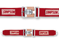 "Click for a larger picture of Simpson Latch F/X Bolt-In Lap Belt, 36""-62"", Pull-Down"