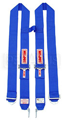 Click for a larger picture of Latch & Link H-Type Shoulder Harness, Blue, Old Date