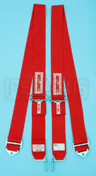 "Click for a larger picture of Latch & Link 2-Strap Shoulder Harness, 75"", Red, Old Date"