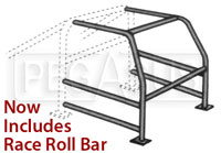 Click for a larger picture of Complete U-weld Cage Kit (now with rollbar)