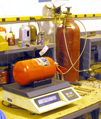 Click for a larger picture of (H) SPA AFFF Fire Suppression System, Refill & Recertify
