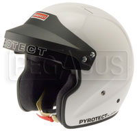 Click for a larger picture of Pyrotect Open Face Helmet, Snell SA2010 Approved