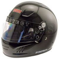 Click for a larger picture of Pyrotect Carbon Fiber Full Face Helmet, Snell SA2010