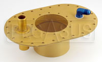 """Click for a larger picture of Fuel Safe 6x10 Remote Fill Plate, 8AN PU, 1"""" Vent"""