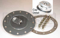 Click for a larger picture of Fuel Safe Filler with Aircraft Style Flush Cap, 4.75 BC