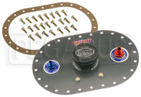 Click for a larger picture of Fuel Safe 6x10  Standard Fill Plate, 6AN PU, 8AN Vent