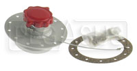 """Click for a larger picture of Fuel Safe 2.25"""" Straight Fill Valve w 1/4-Turn Cap, 4.75 BC"""