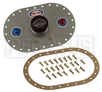 Click for a larger picture of Fuel Safe 6x10 Standard Fill Plate, 6AN PU, 6AN Vent