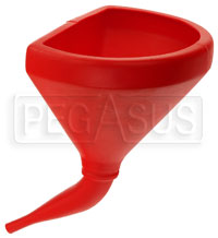 Click for a larger picture of 14 inch 45 Degree D-Shaped Anti-Swirl Funnel