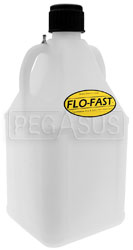 Click for a larger picture of 7.5 Gallon Translucent White Utility Jug for Flo-Fast System