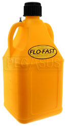 Click for a larger picture of 7.5 Gallon Yellow Utility Jug for Flo-Fast Pump Systems