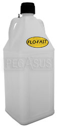 Click for a larger picture of 10.5 Gal Translucent White Utility Jug for Flo-Fast Systems