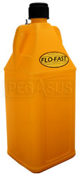 Click for a larger picture of 10.5 Gallon Yellow Utility Jug for Flo-Fast Pump Systems