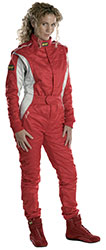 Click for a larger picture of OMP Tecnica Lady Drivers Suit, 3 Layer Nomex, FIA 8856-2000