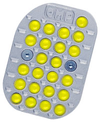 Click for a larger picture of Antiskid Rubber Pedal Buttons for Cast OMP Pedals, Set of 26