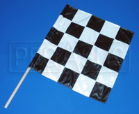 "Click for a larger picture of 24"" x 24"" Sewn Nylon Checkered Flag"