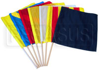 """Click for a larger picture of 24"""" x 24"""" Corner Worker 7 Piece Flag Set"""