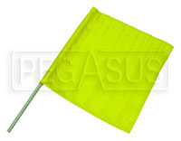 "Click for a larger picture of 24"" x 23"" Nylon Yellow Flag"