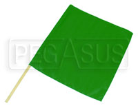 "Click for a larger picture of 23"" x 24"" Nylon Green Flag"