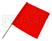 "Click for a larger picture of 23"" x 24"" Nylon Red Flag"