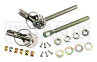 Click for a larger picture of Slide Type Captive Hood Pin Assembly- Set of 2