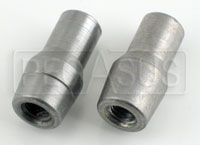 "Click for a larger picture of Weldable Tube End, 1/4-28 Thread x .058"" Wall"