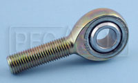 Click for a larger picture of Carbon Steel Rod End, Male Threaded Shank, PTFE Lined