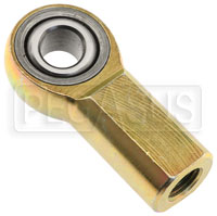 Click for a larger picture of Carbon Steel Rod End, Female Threaded Shank, PTFE Lined