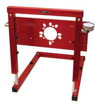 Click for a larger picture of Longacre Bump Steer Gauge with 5-Bolt Plate