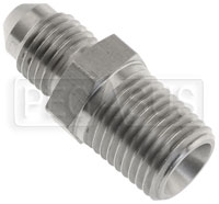 Click for a larger picture of Stainless BSPT Tapered Male to AN Male Adapter