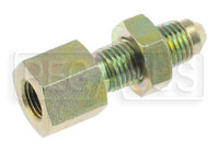Click for a larger picture of 1/8 NPT Female to 4AN Male Bulkhead Connector, Steel