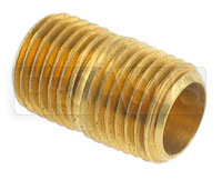 Click for a larger picture of Close Nipple, 1/4 NPT  Brass